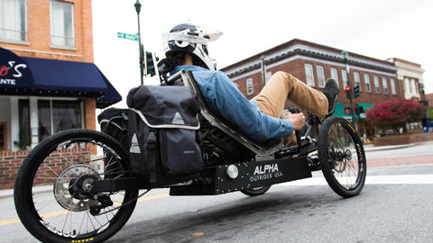 Outrider USA Alpha, Alpha Road Shot, Alpha downtown Hendersonville, Left corner low angle