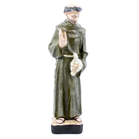 HomArt Vintage Style Cast Iron St. Francis of Assisi Statue