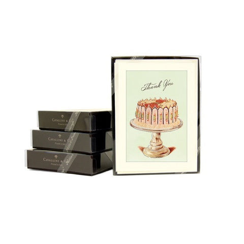 Cavallini & Co. Cake Glitter Greetings Thank You Note Card Boxed Set