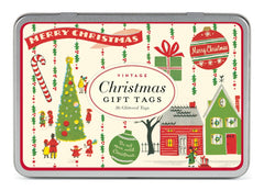 Cavallini & Co. Vintage Christmas Glitter Gift Tag Set