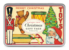 Cavallini & Co. Christmas Vintage Toys Glittered Gift Tag Set