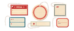 Cavallini & Co. Vintage Labels Gift Tag Set