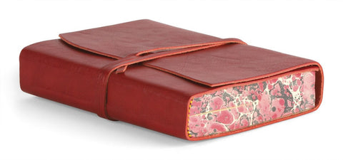 Cavallini & Co. Roma Lussa Leather Journal Red 5x7