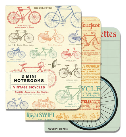 Cavallini & Co. Vintage Bicycles Mini Notebooks Set