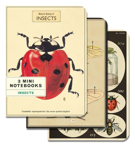 Cavallini & Co. Insects Mini Notebooks Set