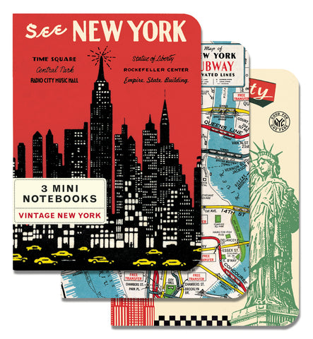 Cavallini & Co. Vintage New York City Mini Notebooks Set