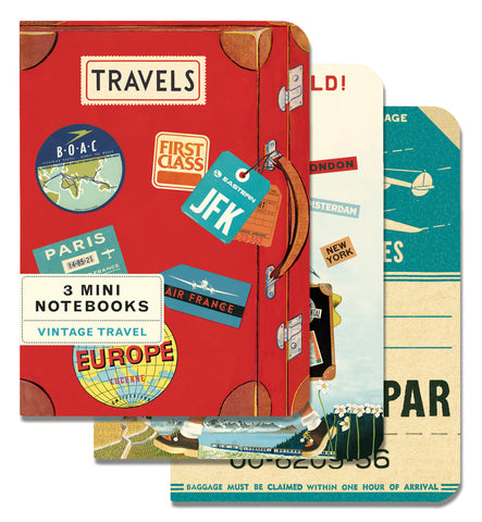 Cavallini & Co. Vintage Travel Mini Notebooks Set