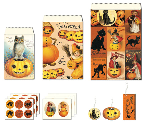 Cavallini & Co. Halloween Petite Parcel Wrapping Set