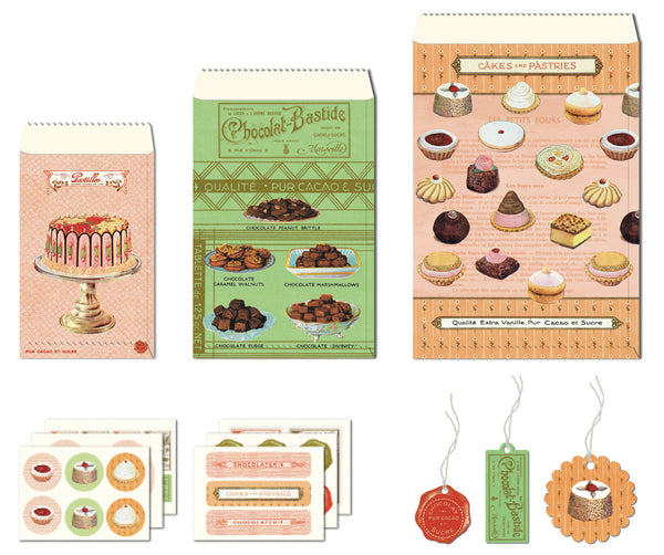 Cavallini & Co. Sweet Treats Petite Parcel Wrapping Set