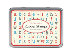 Cavallini & Co. Alphabet Lowercase Mini Rubber Stamp Set