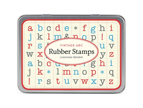 Cavallini & Co. Alphabet Lowercase Rubber Stamp Set