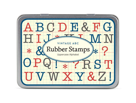 Cavallini & Co. Alphabet Uppercase Rubber Stamp Set