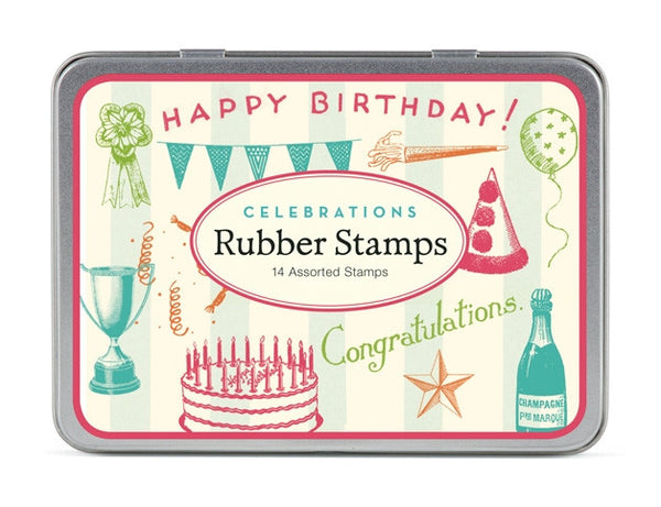 Cavallini & Co. Celebrations Small Rubber Stamp Set