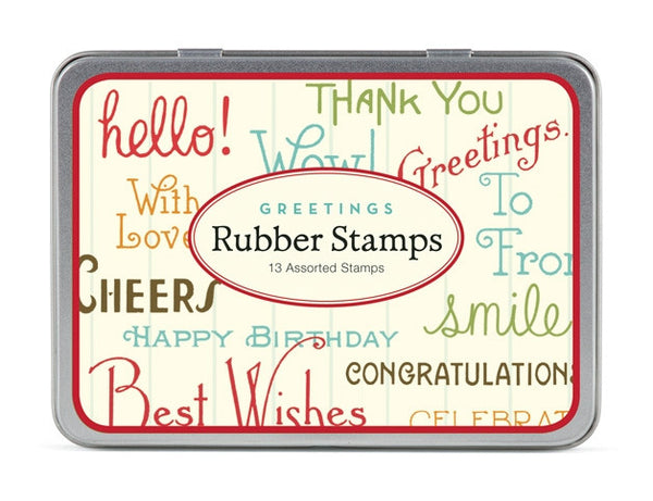 Cavallini & Co. Greetings Rubber Stamp Set