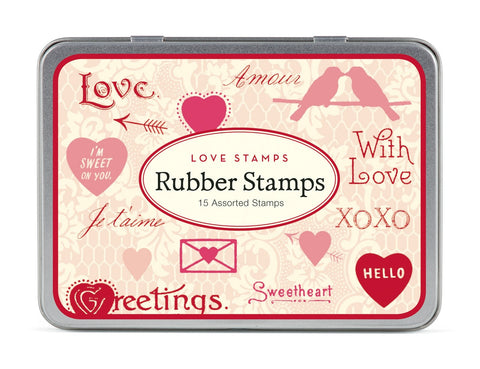 Cavallini & Co. Love Stamps Rubber Stamp Set