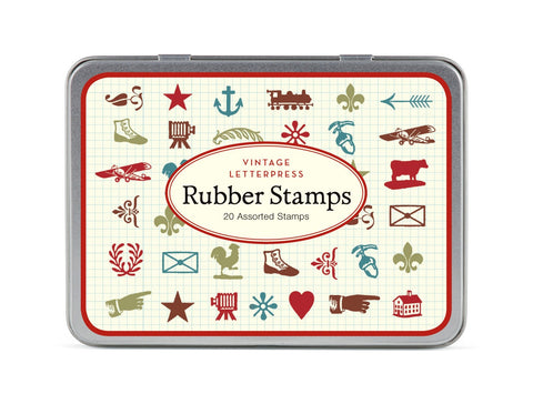 Cavallini & Co. Vintage Letterpress Rubber Stamp Set