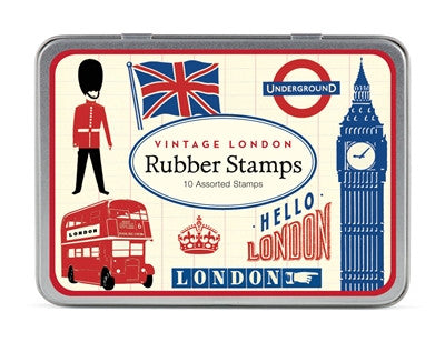 Cavallini & Co. Vintage London Rubber Stamp Set