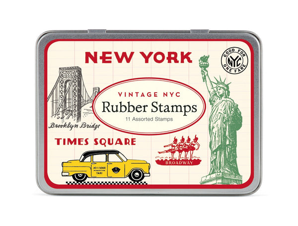 Cavallini & Co. Vintage New York Rubber Stamp Set
