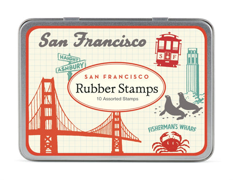 Cavallini & Co. Vintage San Francisco Rubber Stamp Set