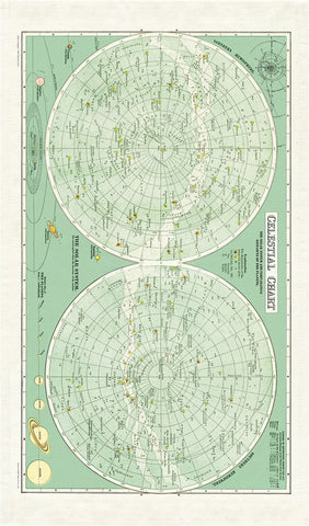 Cavallini & Co. Vintage Celestial Chart Cotton Tea Towel