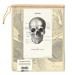 Cavallini & Co. Vintage Skull Cotton Tea Towel