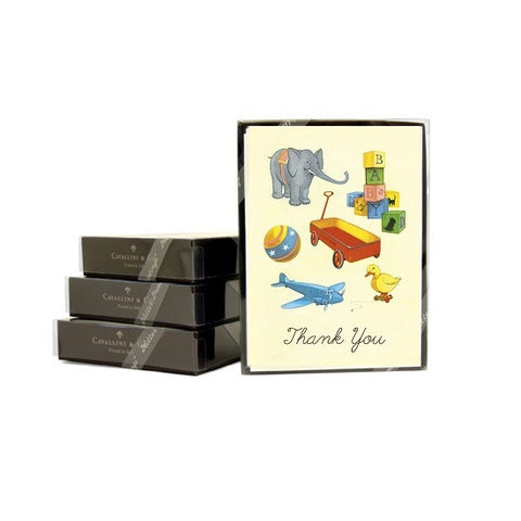Cavallini & Co. Vintage Toys Thank You Note Card Boxed Set