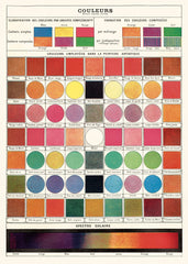 A NEW ARRIVAL Cavallini & Co. Color Chart Decorative Paper Sheet