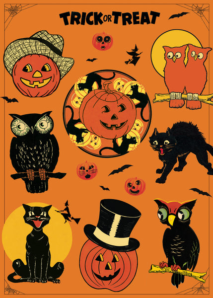 Cavallini & Co. Trick Or Treat Halloween Decorative Paper Sheet