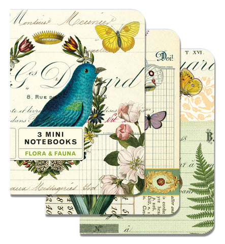 Cavallini & Co. Flora & Fauna Mini Notebooks Set