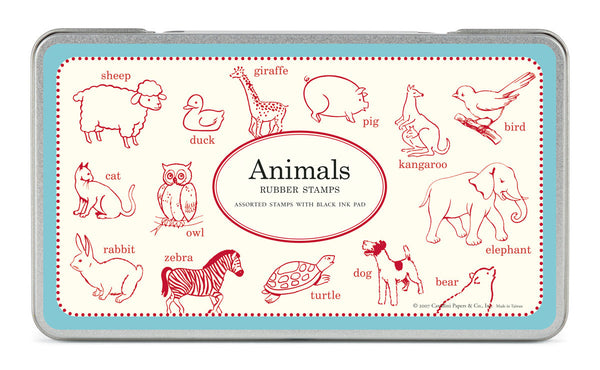 Cavallini & Co. Animals Rubber Stamp Set