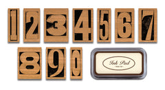 Cavallini & Co. Vintage Numbers Rubber Stamp Set