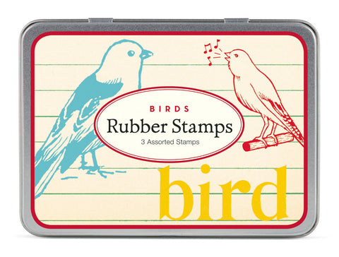 Cavallini & Co. Birds Rubber Stamp Set
