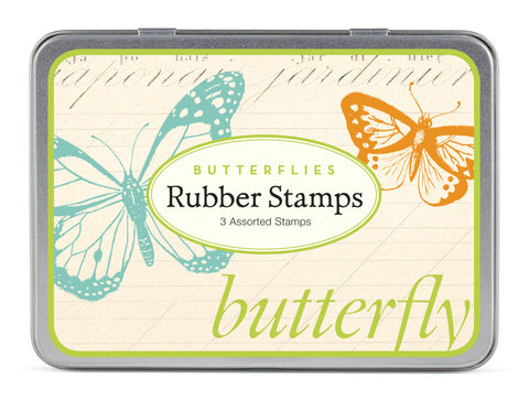 Cavallini & Co. Butterflies Rubber Stamp Set