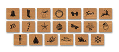 Cavallini & Co. Christmas Rubber Stamp Set