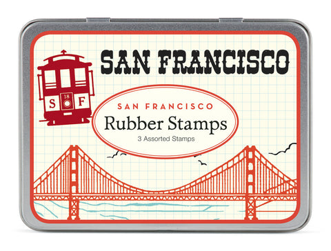 Cavallini & Co. San Francisco Rubber Stamp Set