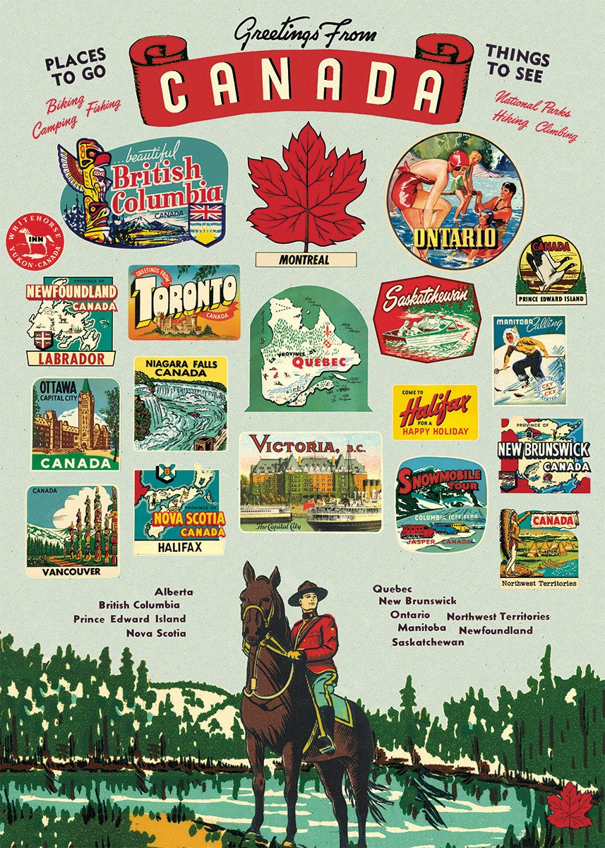 Cavallini co greetings from canada decorative paper sheet pomp greetings from canada decorative paper sheet m4hsunfo