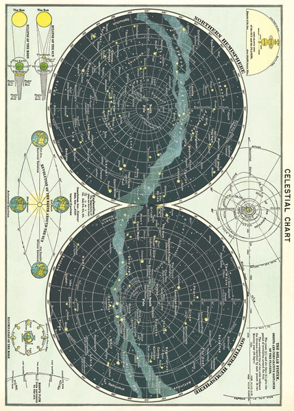 Cavallini & Co. Celestial Chart Decorative Paper Sheet