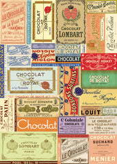 Cavallini & Co. Chocolate Label Collage Decorative Paper Sheet