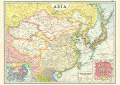 Cavallini & Co. Asia Map Decorative Paper Sheet