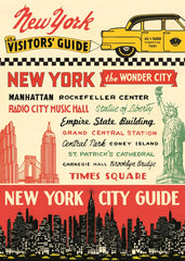 Cavallini & Co. NYC Visitors Guide Decorative Paper Sheet