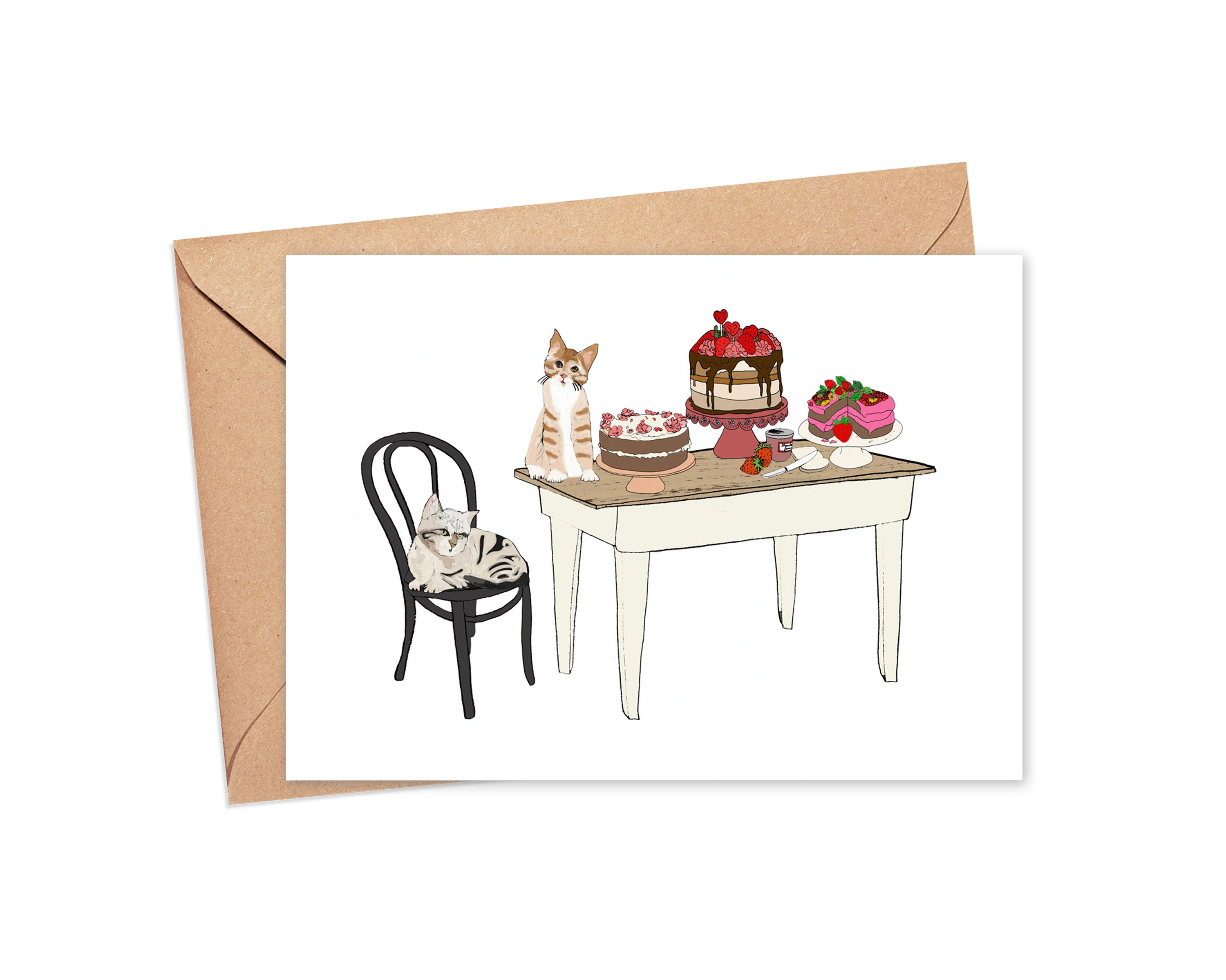 """Strawberry on top"" Blank Card"