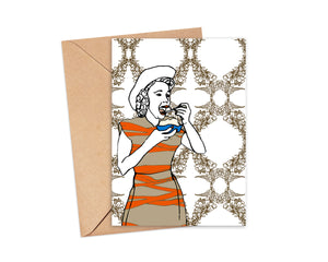 """Wallflower"" Blank Card"