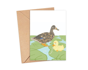 """Did someone say ""Quack?"" Flat Blank Card"
