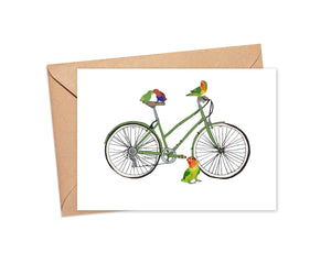 """A little bird told me"" Blank Card"