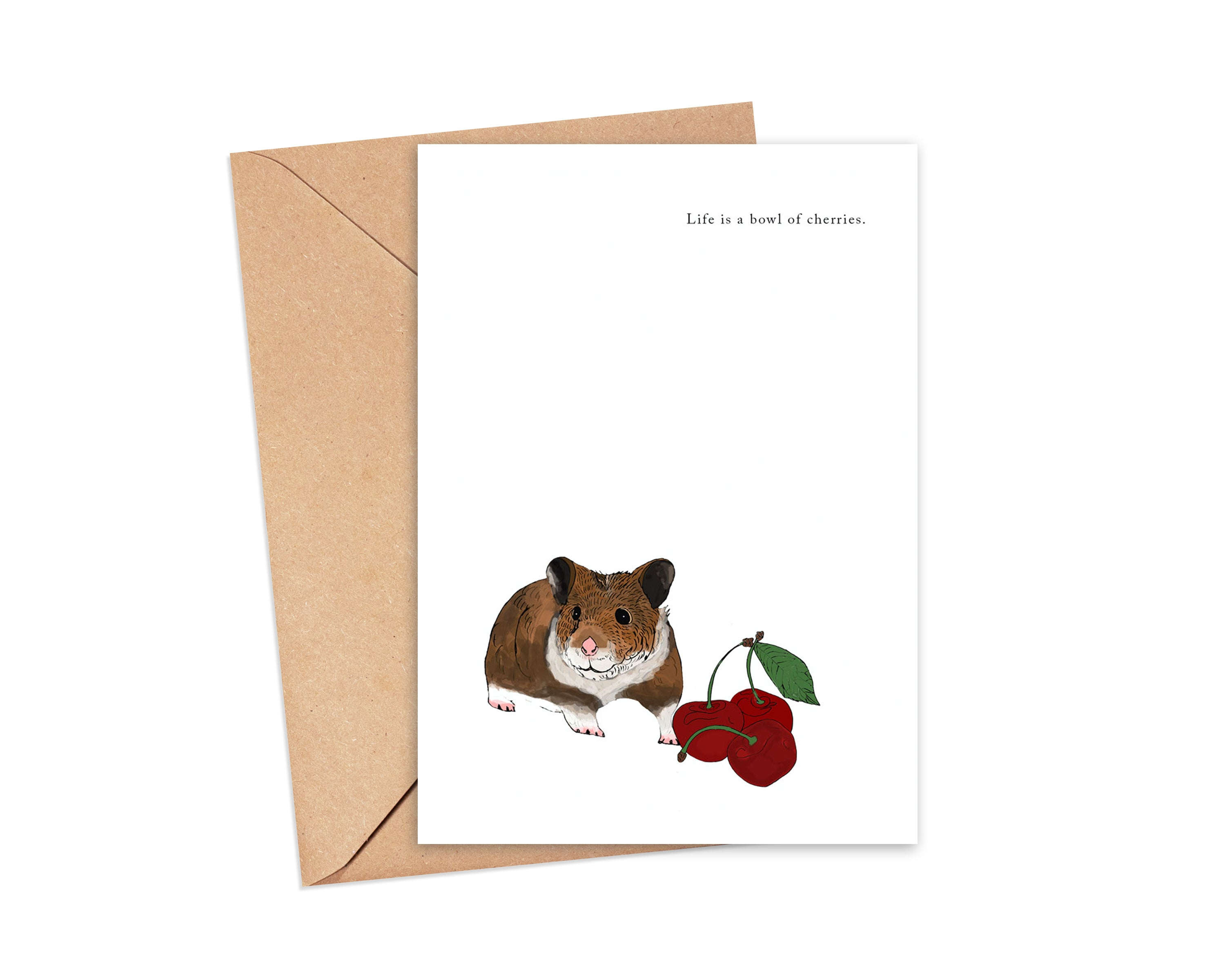 """Cherry picked"" Blank Card"