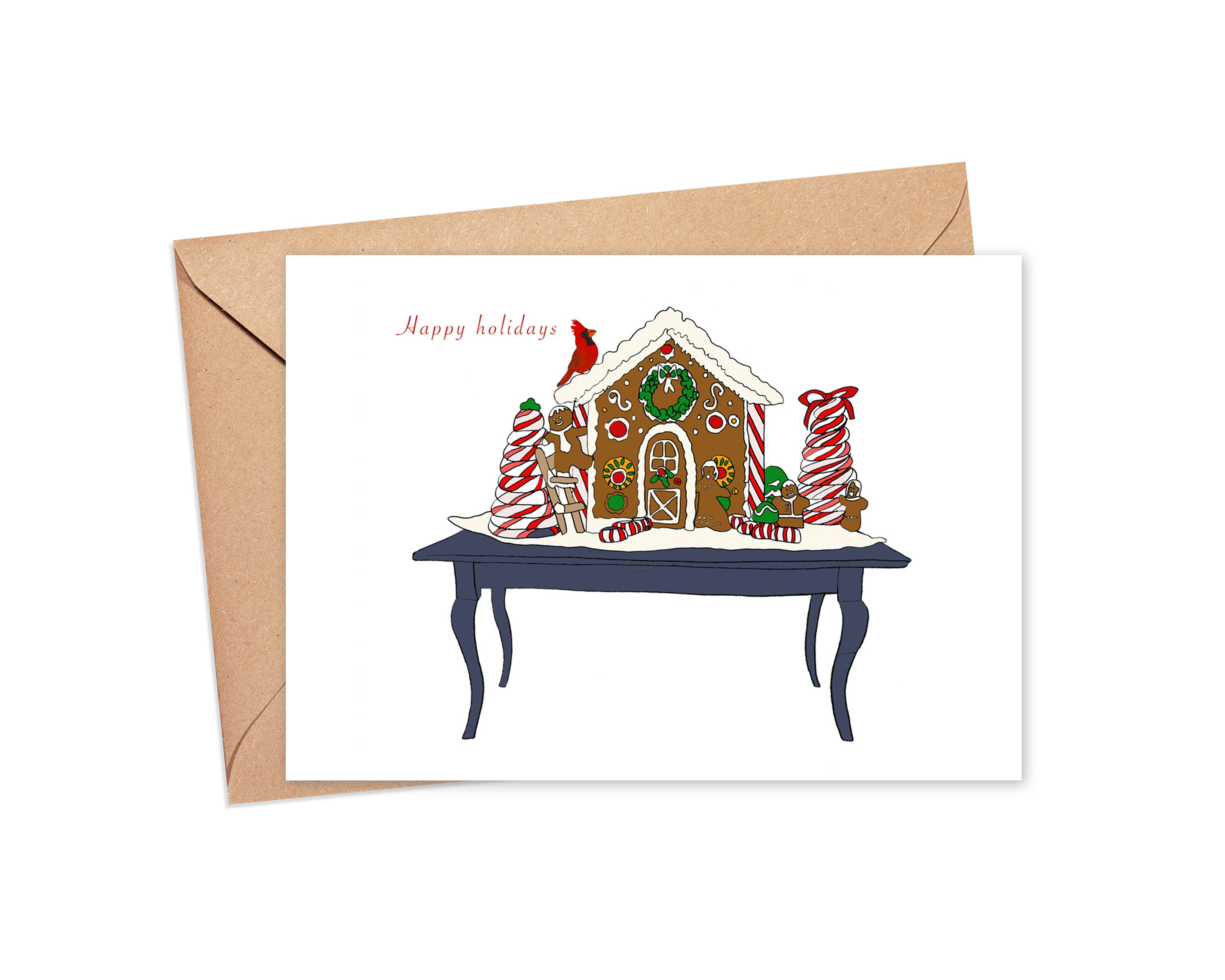 """May your home be merry and sweet"" blank card"