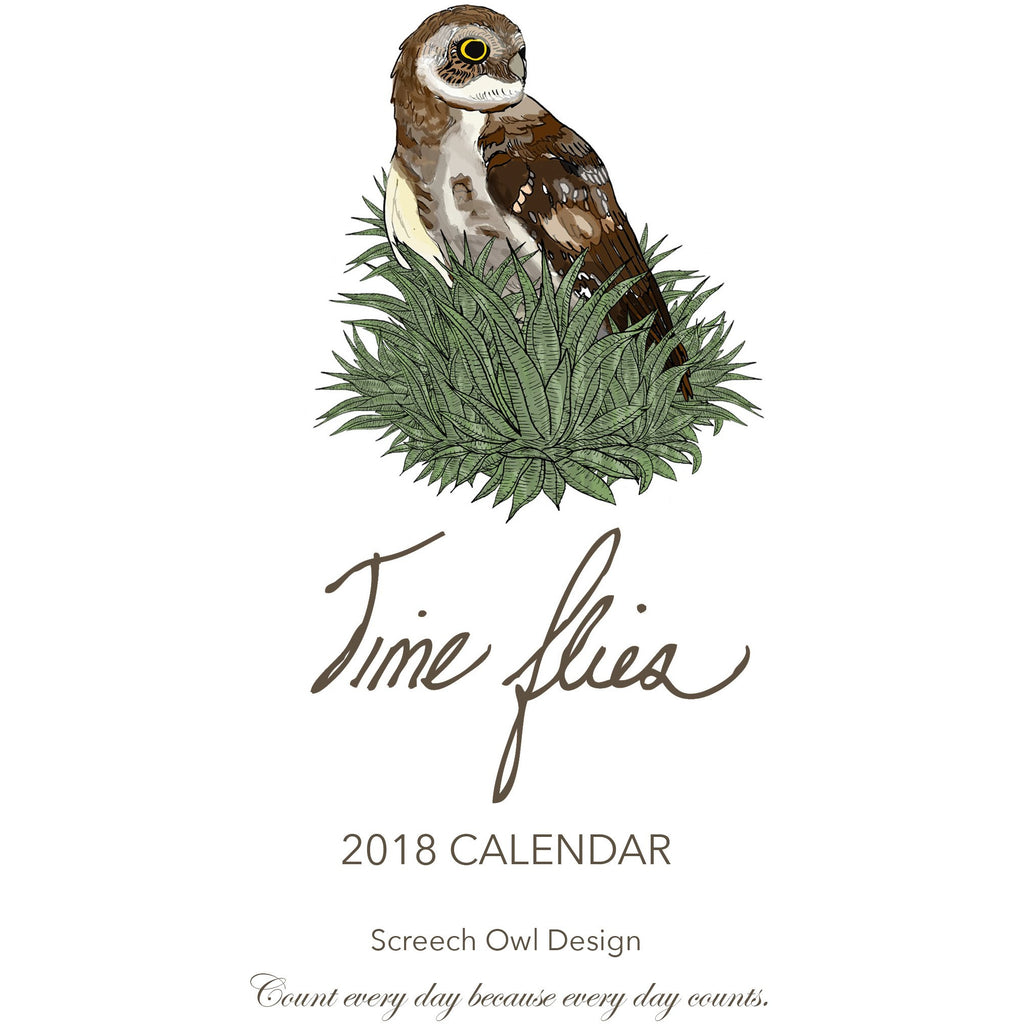 2018 Time Flies Calendar.