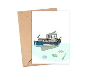 """Pisces"" Blank Card"