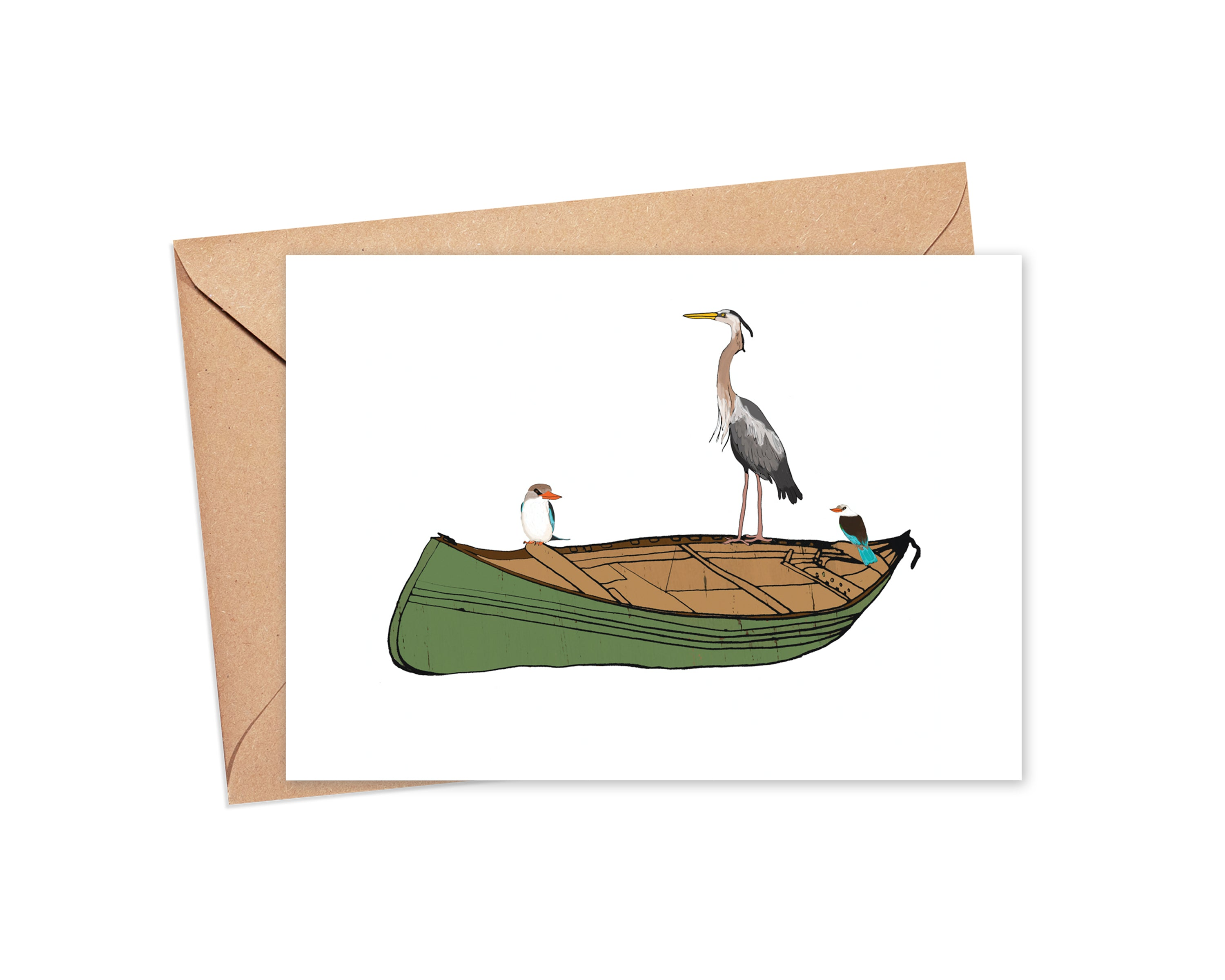 """Let's rock the boat"" Blank Card"