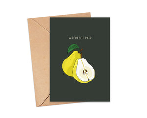 """A Perfect Pair"" Blank Card"